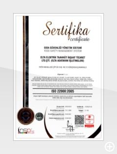 ISO 22.000 GIDA GÜVENLİĞİ SERTİFİKASI
